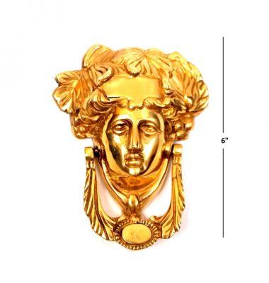 BR 20114 - Victorian Solid Brass MEDUSA Antique Style Door Knocker Brand New