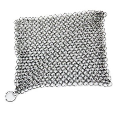 "IR-80815 8"" X 6"" Stainless Steel Chainmail Scrubber (Cast Iron Cleaner)"