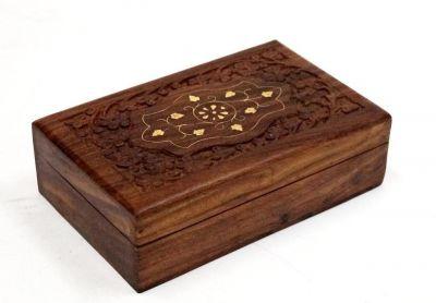 SH1045 - Carved Wooden Box (Teak Wood)