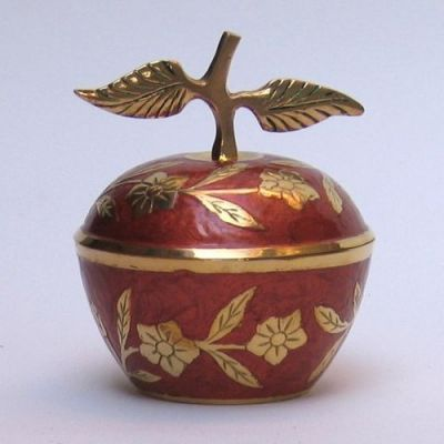 br10872 - Painted Brass Apple Box
