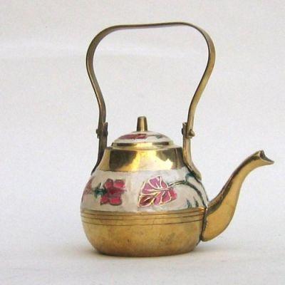 BR1223 - Brass Enamel Kettle