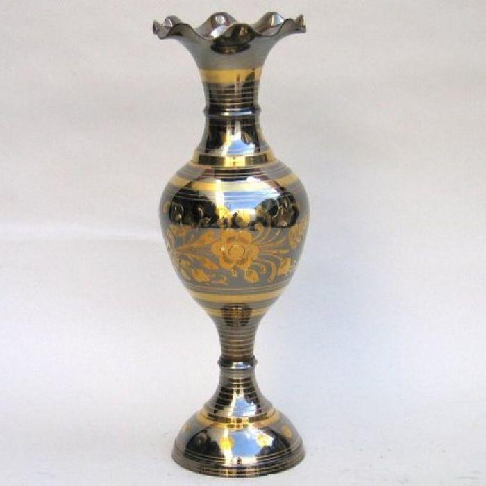 Br2122a Brass Flower Vase