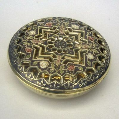BR23024 - Brass Box, Round Perforated