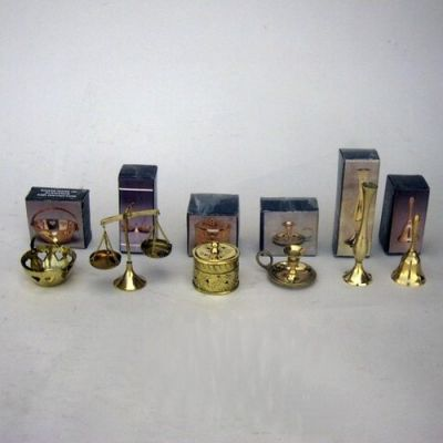 BR4010A - Solid Brass Assortment, Set of six. Each Individually Gift Boxed