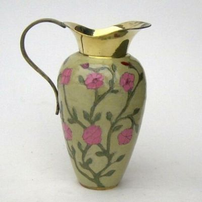 BR40451 - Brass Jug, Painted