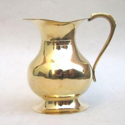 BR40980 - Afghan Jug, Solid Brass, Plain