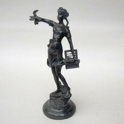 BRZ5010 - Girl With Bird, Bronze