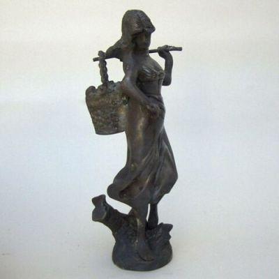 BRZ5025 - Bronze Lady With Basket