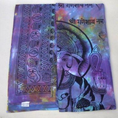 IB2211G - Bedspread, Tie-dye, Fine Weaving, Ganesh Single