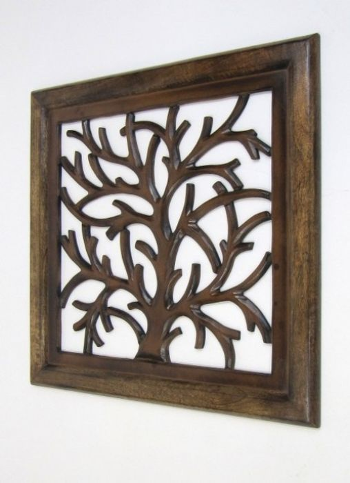 Wooden Wall Hangings sh15755 - carved wooden wall panel, wall hanging, tree