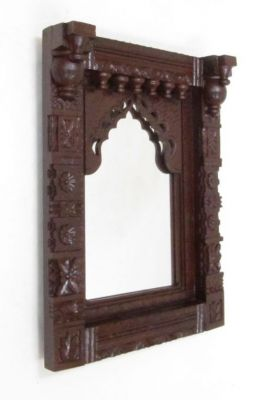 SH7011 - Carved Wooden Jharokha With Mirror